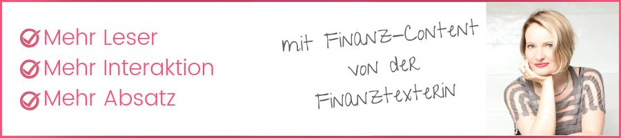 Finanz-Content vom Finanztexter erstellen lassen