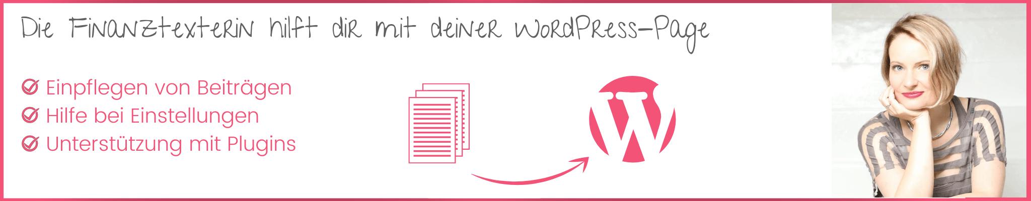 Finanztexterin WordPress Banner